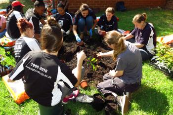 FABIans flexed their green fingers at 2019's first tree planting session